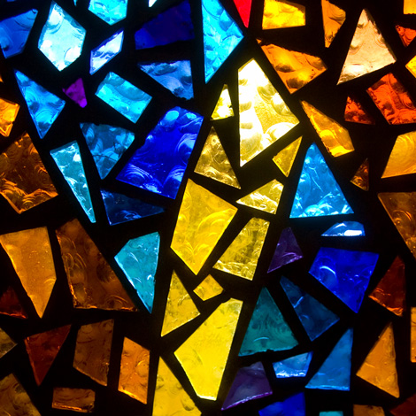 stained glass close up